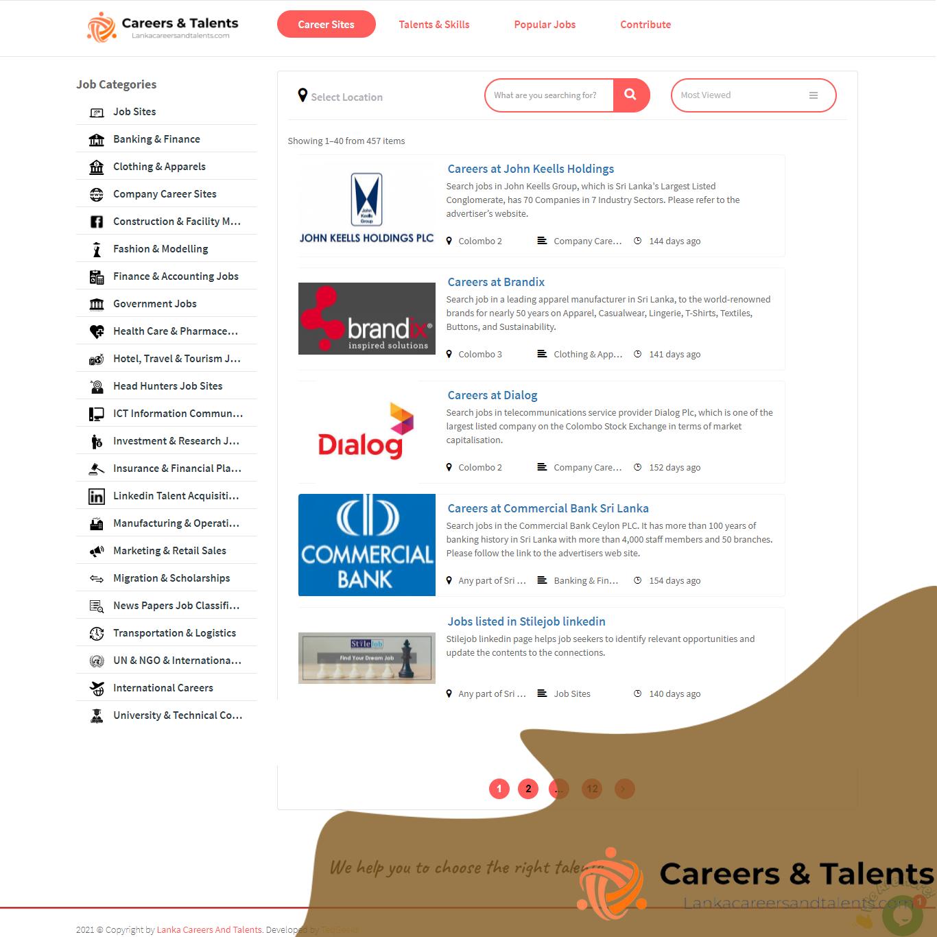 Lanka Careers and Talents